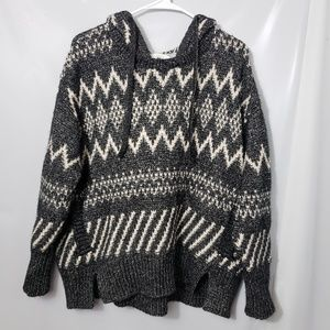 Victoria Secret Chunky Hooded Cozy Sweater